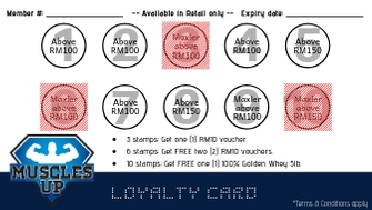 Musclesup Retail Loyalty Card