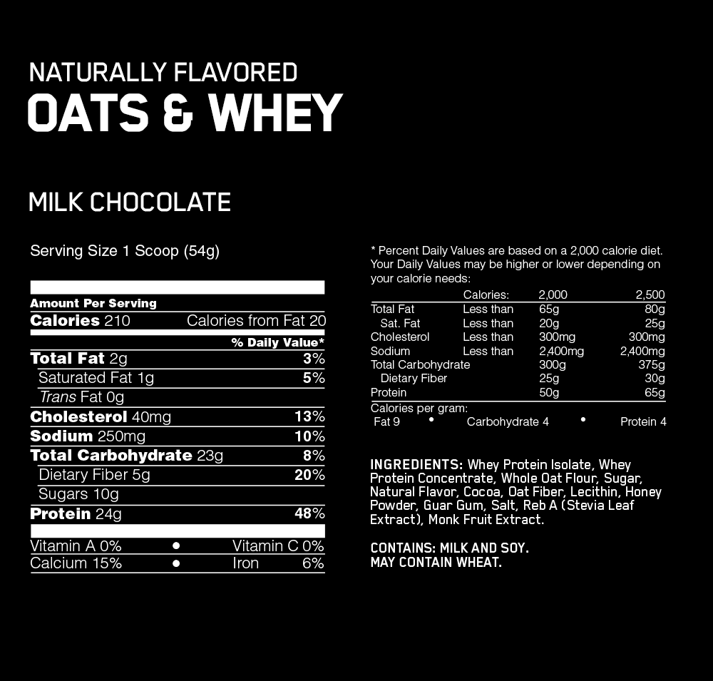 ON Whey & Oat FACT