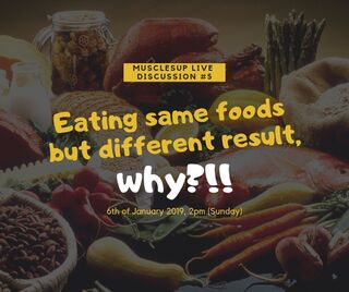 Eating same foods but different result, WHY