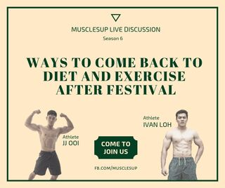Ways to come back to diet and exercise after festival